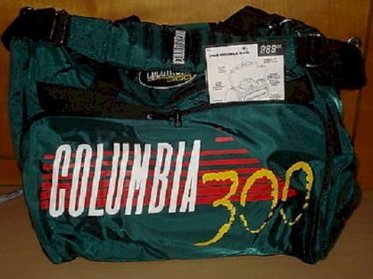 Columbia 300 Large Pro Two Ball Nylon Bowling Ball Bag Green & Black