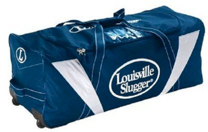 Louisville Slugger LOWG Navy Oversized Wheeled Gear Equipment Bag New