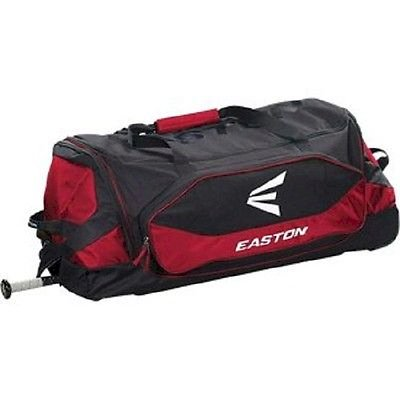 Easton Stealth Core Red Wheeled Catcher's Equipment Bag Baseball / Softball