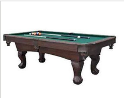 Pool Table 7' Foot 5'' Billiards Tables Home Balls Cues Chalk Brush Rack Games