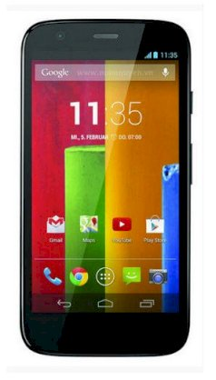 Motorola Moto G Dual SIM 16GB Black front Yellow back