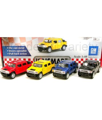 Kinsmart 1:40 Scale 2005 Hummer H2 SUT- Set Of 4