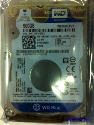 Western Digital Blue Slim 320GB - 5400rpm - 8MB Cache - Sata 2