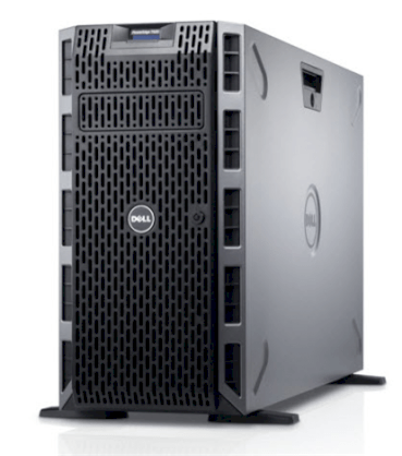 Server Dell PowerEdge T620 E5-2670v2 (Intel XEon E5-2670v2 2.5Ghz, Ram 8GB, HDD 1x Dell 500GB, DVD, Raid S110 (0,1,5,10), PS 1 x750W)