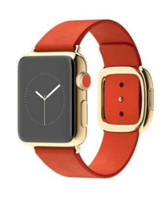 Đồng hồ thông minh Apple Watch Edition 38mm 18-Karat Yellow Gold Case with Bright Red Modern Buckle