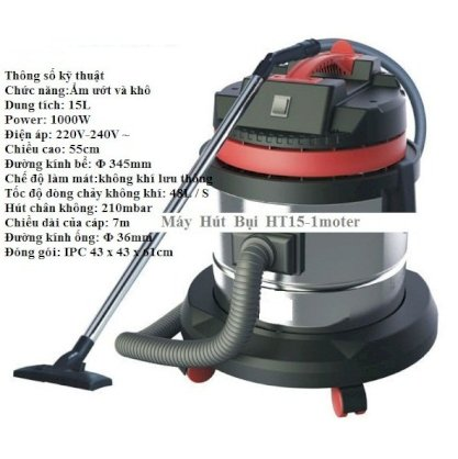 Prochemicals HT- 15L stainless steel wet and dry vacuum cleaner