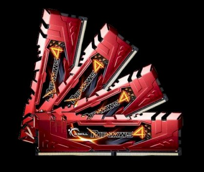 G.Skill Ripjaws 4 (F4-3000C15Q-16GRR) - DDR4 - 16GB (4 x 4GB) - Bus 3000MHz - PC4 24000 Quad Channel Kit