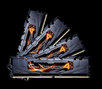 G.Skill Ripjaws 4 (F4-2666C15Q-32GRKB) - DDR4 - 32GB (4 x 8GB) - Bus 2666MHz - PC4 19200 Quad Channel Kit
