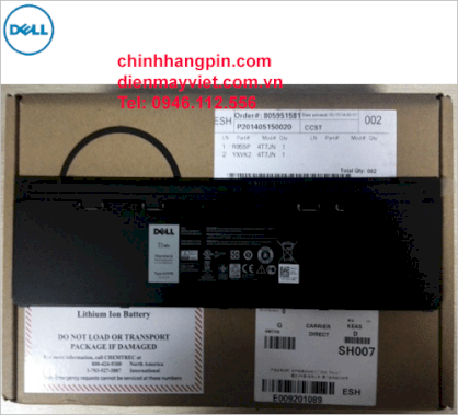 Pin laptop Dell GVD76 (3 cells, 11.1V, 31Wh)