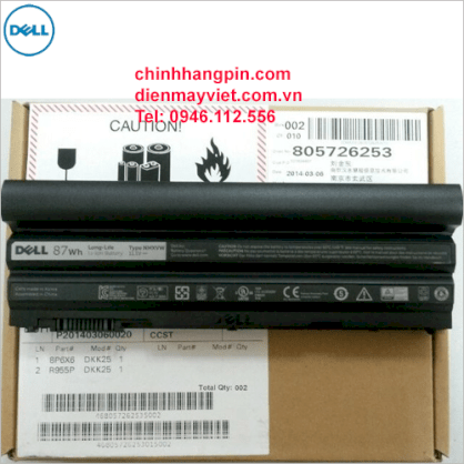 Pin laptop Dell NHXVW (9 cells, 11.1V, 87Wh)