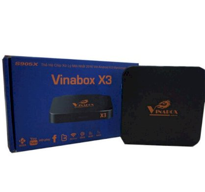 Android TV Box VinaBox X3 - RAM 1G - Android 6.0 Marshmallow
