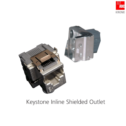 Cat 5e STP Keystone RJ-45 modular Jack T568 A/B (Shielded) (6540 1 154-02)