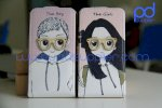 Bao Da The Boy & The Girl Cho Iphone 4/4S - The Boy The Girl Leather Case