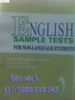 Ôn Thi Cao Học Tiếng Anh - English Sample Tests For Non-Language Students