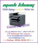Máy In Laser Đa Chức Năng Canon Mf4750, Canon Mf4750 Copy, In, Scan, Fax Giấy A4