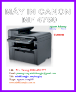 Máy In Laser Đa Chức Năng A4 Canon Mf- 4750 - In,Scan,Copy,Fax, Adf