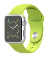Đồng hồ thông minh Apple Watch Sport 38mm Silver Aluminum Case with Green Sport Band