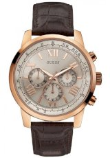 Đồng hồ Guess Men's Chronograph Brown Croco Leather Strap Watch 45mm U0380G4
