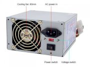 Athena Power AP-P4ATX40F ATX12V 400W Power Supply 115/230 V UL, TUV, CB & CE - Retail