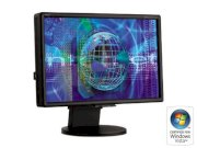 "NEC Display Solutions LCD2470WNX-BK Black 24"" 6ms(GTG) DVI Widescreen LCD Monitor with HDCP & USB ports 500 cd/m2 1000:1 - Retail"