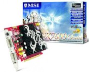 MSI NX7600GS-T2D256EH (NDIVIA Geforce 7600GS, 256MB, 128-bit, GDDR2, PCI Expressx16)