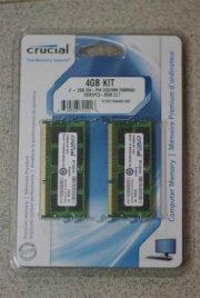 Crucial - DDR3 - 4GB kit (2x2GB) - Bus 1066 - PC3 8500