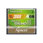 Apacer 4GB 200X CF Compact Flash Memory Card (SZWM163)
