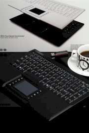 Visenta Wireless Keyboard with Touchpad 2.4 Ghz (Black)