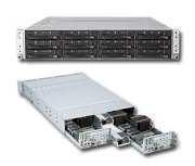 SuperServer 6026TT-BIBQRF (Intel Xeon 5600/5500, DDR3 Up to 48GB, HDD 3x Hotswap SATA Drive Bays)