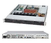 "Supermicro SuperServer 1025C-M3B (Intel Xeon 64-bit Quad Core or Dual Core, DDR2 Up to 48GB, 8 x 2.5"" Hotswap)"