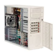 Supermicro SuperServer 5035G-T (Beige) (Intel Celeron D, Up to 8GB DDR2 RAM, 4 x Hot-swappable SATA HDD, 450W)