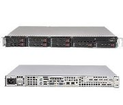 "Supermicro SuperServer 1016T-M3FB (Black) (Intel Xeon 5600/5500, DDR3 Up to 24GB,HDD 8x 2.5"", 560W)"