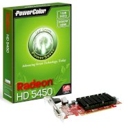 PowerColor Go! Green HD5450 1GB DDR3 HDMI ( AX5450 1GBK3-SH ) ( ATI RADEON HD5450 , 1GB , 64bit , GDDR3 , PCIE 2.1 )