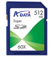 ADATA SD Card 512MB 60x
