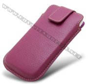 Bao cầm tay iPhone 4 Melkco Leather Case - Oto Holder Type màu tím