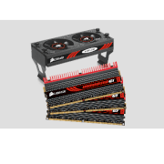 Dominator GT (CMT12GX3M3A2000C9) - DDR3 - 12GB (3 x 4GB) - bus 1333MHz - PC3 10600 kit - Connector and Airflow II Fan