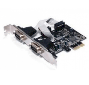 PCI Express PCI-e x1 To 2 Port Serial RS-232 DB9 Com Card