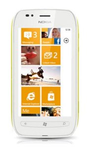 Nokia Lumia 710 (Nokia Sabre) White Yellow
