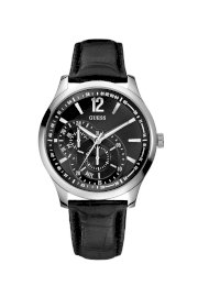 Đồng hồ Guess Watch, Men's Black Croc Embossed Leather Strap 38mm U95152G1