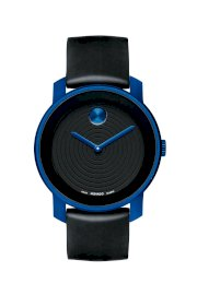 Đồng hồ Movado Watch, Swiss Bold Large Blue Accent Black Silicone Strap 44mm 3600070