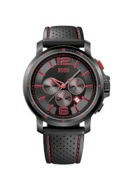 Đồng hồ Hugo Boss Watch, Men's Chronograph Black Perforated Rubber Strap 1512597