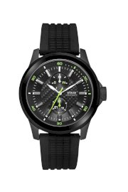 Đồng hồ Guess Watch, Men's Black Silicone Strap 41mm U95183G1