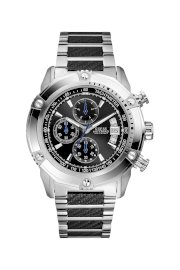 Đồng hồ Guess Watch, Men's Chronograph Stainless Steel and Carbon Fiber Bracelet 46mm U18507G2