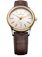 Đồng hồ đeo tay Maurice Lacroix Les Classiques men's watch features a silver dial Model LC6017-YS101-130