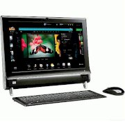 Máy tính Desktop HP TouchSmart 300-1223 All In One Desktop (AMD Athlon II X2 240e 2.8GHz, 4GB RAM, 750GB HDD, ATI Radeon HD 3200, LCD 20 Inch, Windows 7 Home Premium 64-bit)