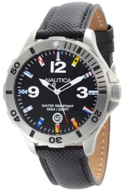 Nautica Men's N12565G BFD 101 Black Dial Watch