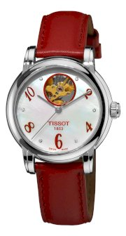 Tissot Women's T0502071611601 Heart Automatic Mother-Of-Pearl Open Dial Watch