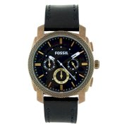 Đồng hồ Fossil Men's FS4657 Leather Crocodile Analog with Black Dial Watch