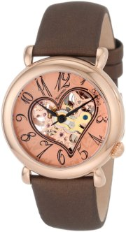 Stuhrling Original Women's 109.1245E14 Cupid II Rose-Tone Brown Leather Watch