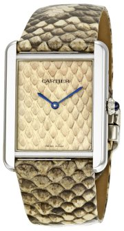 Cartier Women's W5200021 Tank Solo Python Leather strap Watch